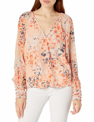 Ramy Brook Women's Floral Printed Constance Long Sleeve TOP
