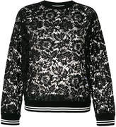 Valentino floral print lace sweater