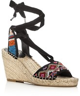 c46b9b6ecf50 Ash Paola Beaded Ankle Tie Espadrille Wedge Sandals