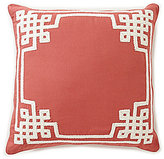 Southern Living Greek Key-Embroidered Oversized Square Pillow