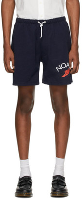 Noah NYC Navy Jersey Shorts