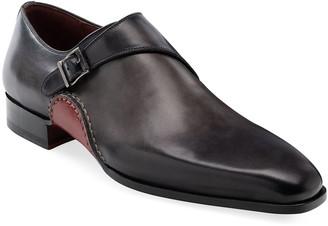 Magnanni Men's Carrera Single-Monk Leather Shoes