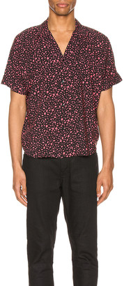 Saint Laurent Short Sleeve Shirt in Black & Fuchsia | FWRD