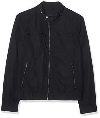 Celio Men's Nuprady Jacket, White Navy, (Size: Medium)