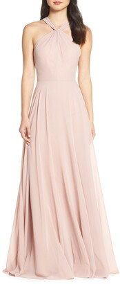 Jenny Yoo Halle Halter Evening Dress