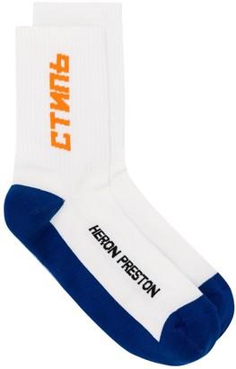 Heron Preston logo knit socks