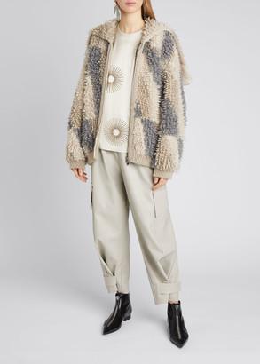 Stella McCartney Loop Stitch Wool-Blend Cardigan