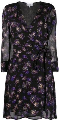 Ganni Georgette wrap dress
