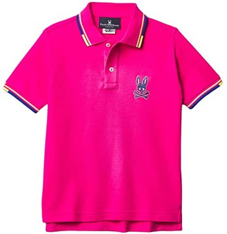 Psycho Bunny Kids Eden Polo (Toddler/Little Kids/Big Kids) (Pink Yarrow) Boy's Clothing