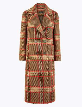 Marks and Spencer Checked Boyfriend Coat