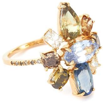 Xiao Wang 'Galaxy' diamond sapphire ring