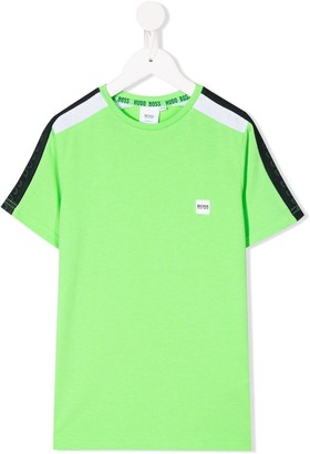Boss Kids crew neck mesh panel T-shirt