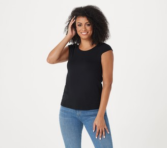 The Muses Lounge The Muses Closet Spandex Jersey Short Sleeve Knit Top