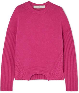 Golden Goose Momoirobara Paneled Merino Wool Sweater - Pink