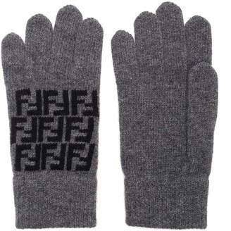 Fendi FF Knitted Gloves