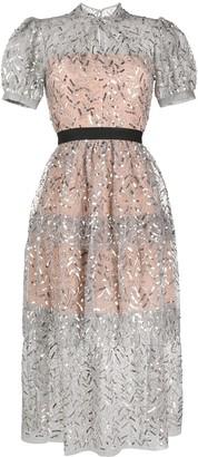 Self-Portrait Sequin Embellished Dress