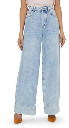 Vero Moda Emma Super High Waist Wide Leg Jeans