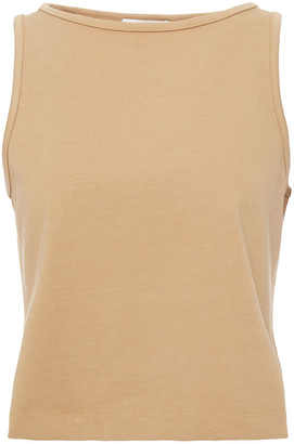 Vince Cropped Cotton-jersey Tank