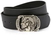 Diesel Logo Buckle Leather Belt