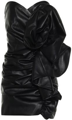 Alexandre Vauthier Strapless leather minidress