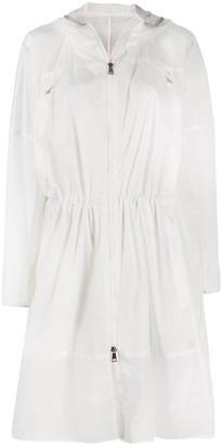 Moncler Semi-Sheer Logo-Print Raincoat