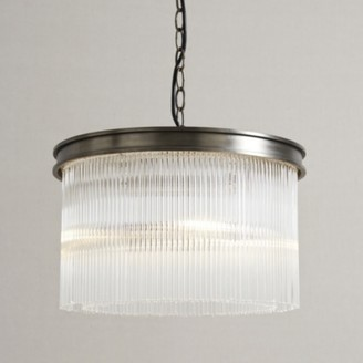 The White Company Helston Chandelier Small Ceiling Light, Antique Brass, One Size