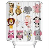 Gym2 Shower curtain GYMNLJY Shower curtain Polyester Cartoon Animal Thermal insulation Waterproof mildew Bathroom Take a bath Bath enclosures