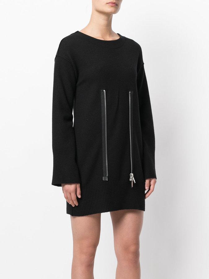 Dondup zip detail knitted dress