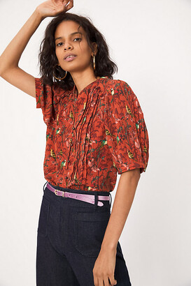 Maeve Liliana Pleated Buttondown By in Assorted Size XS