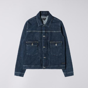 Edwin Easy Stone Wash CS Red Listed Selvage Blue Denim Jacket - S - Blue