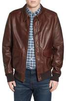 Schott NYC Men's 'A-2' Pebbled Leather Bomber Jacket