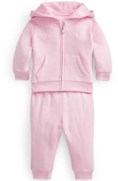 Polo Ralph Lauren Ralph Lauren Baby Girls Fleece Hoodie Pant Set