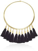 Vince Camuto Tassel Gold/Black Collar Necklace
