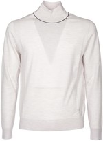 Paul Smith High Collar Pullover In Ivory Color Whit Logo
