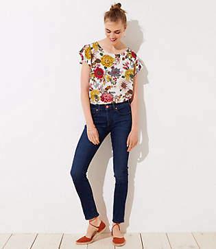 LOFT Petite Modern Slim Pocket Skinny Jeans in Staple Dark Indigo Wash