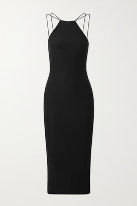 Alix Shiloh Stretch-jersey Midi Dress - Black
