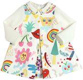 Simonetta Rainbow Print Cotton Satin Dress