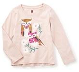 Tea Collection 'Fukuro' Graphic Tee (Toddler Girls, Little Girls & Big Girls)