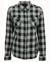 Levi's Women's Oakland Raiders Plaid Button Up Woven Shirt