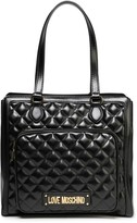 Love Moschino Logo-embellished Quilted Faux Leather Shoulder Bag