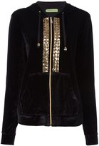 Versace sequin embroidered velour hoodie
