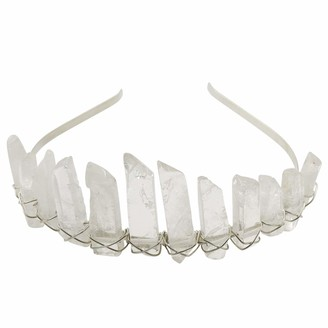 Dream Cosplay Quartz Crystal Headband Mermaid Tiara Crown Wedding Headwear