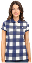 U.S. Polo Assn. Short Sleeve Check Pique Polo Shirt