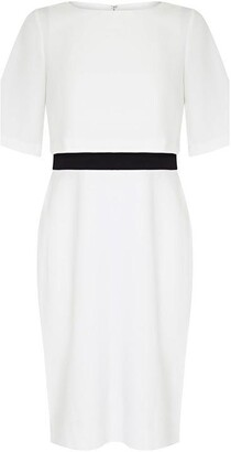 Adrianna Papell Knit Crepe Pop Over Sheath Dress