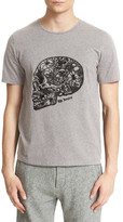 The Kooples Embroidered Skull Graphic Brushed Cotton Tee