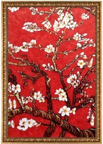 Branches of an Almond Tree in Blossom, Ruby Red - Framed Oil Reproduction of an Original Painting by La Pastiche Originals