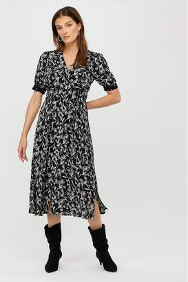 Monsoon Womens Jean Print Dress - Black