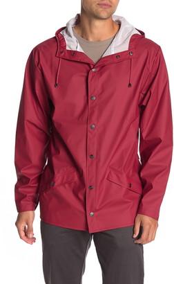 Rains Waterproof Hooded Long Jacket