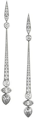 Adriana Orsini Silvertone & Cubic Zirconia Linear Drop Earrings
