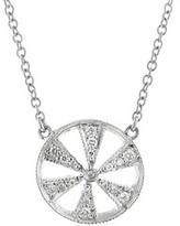 Cathy Waterman Diamond Geo Reverso Necklace